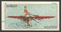 CC BEL Jaques Superchocolat Aviron Roeien No. 22 Single sculler during the propulsive phase