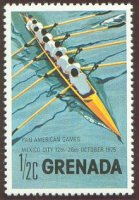 stamp grn 1975 oct. 13th pan american games mexico city mi 701 8