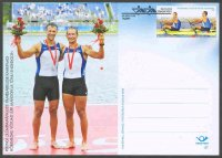 stationary i est 2008 sept. 25th fdc  j.jaanson   t. endrekson est  silver medal winners m2x at og beijing  with pm tallin
