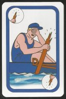 CC AUT 1997 card game Oxford Cambridge Boat Race Oxford broken oar