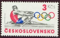 stamp tch 1984 sept. 9th olympic sport mi 2784 single sculler