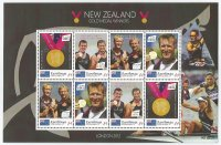 Stamp COK RAROTONGA MS OG London 2012 NZL gold medal winners