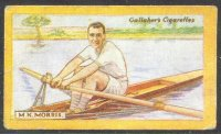 cc gbr 1924 gallaher s cigarettes british champions of 1923 no. 33  m. k. morris  london rc  diamond sculls champion 1923