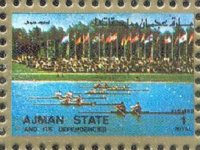 stamp ajman 1972 og munich mi 2636 small size
