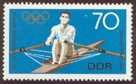 Stamp GDR 1968 Sept. 18th OG Mexico Mi 1409 Single Sculler