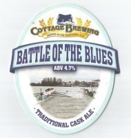 Beer mat GBR COTTAGE BREWING Battle of the Blues