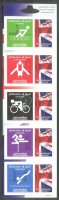 stamp gbr 2012 universal mail uk celebration of sport og london set of five