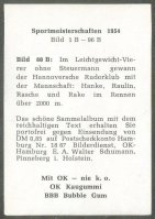 cc ger 1955 ok kaugummi bubble gum sportmeisterschaften 1954 no. 80 b lm4 crew hannoverscher rc german national champion reverse
