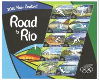 Stamp NZL 2016 July 6th MS Road to Rio