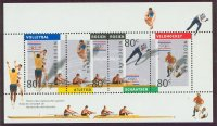 stamp ned 1992 febr. 4th og barcelona ss mi bl. 36 4 ned winner of silver medal wrc tasmania 1990