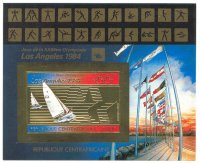 stamp caf 1982 july 24th ss og los angeles yachting imperforated mi bl. 200 b pictogram in margin