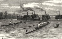 Print GBR 1882 Boat Race Oxford begins to lead The Illustrated London News