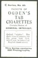cc gbr 1902 ogdens cigarettes c series no. 69 - oxford eights reverse