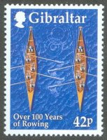 stamp gib 1999 july 2nd mi 891 over 100 years of rowing two gig 4