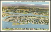 pc usa 1932 og los angeles olympic rowing course alamitos bay long beach aerial photo
