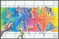stamp aus 2000 aug. 17th ms olympic sports mi 1951 1960