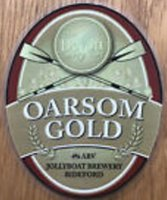Beer pump clip GBR JOLLYBOAT BREWERY Oarsome Gold