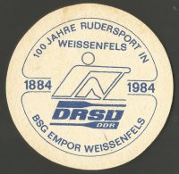 Beer mat GDR 1984 100 years Rowing in Weissenfels