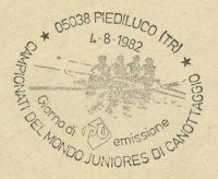 pm ita 1982 aug. 4th piediluco jwrc drawing of 4 taken from stamp