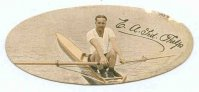 cc gbr 1935  carreras cigarettes  popular personalities  no. 62 ted phelps  world s professional sculling champion till 1933