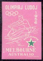 label aus 1956 og melbourne esperanto pink colour