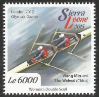 Stamp SLE 2015 OG London Wang Min Zhu Weiwei CHN W2X gold medal winners