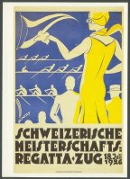 pc sui 1986 reprint of poster sui 1926 swiss championships regatta zug july 18th