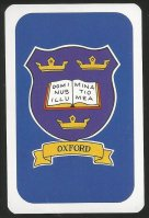 Card game AUT 1997 Oxford Cambridge Boat Race Oxford coat of arms