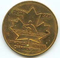 medal can 1970 wrc st. catherines maple leaf with pictogram front