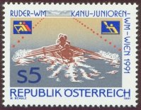 stamp aut 1991 aug. 20th wrc vienna mi 2036 4x