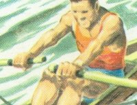 CC FRA playing card Sports Aquatiques No. 5 Aviron detail