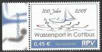 Stamp GER 2009 June 2nd RPV Briefservice 100 years watersport in Cottbus