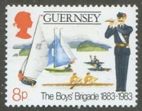 Stamp GBR GUERNSEY 1983 Jan. 18th Mi 260 The Boys Brigade Drawing of 2
