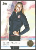 cc usa 2012 topps company u.s. olympic team rowing gold card no. 57 susan francia