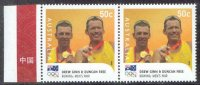 stamp aus 2008 aug. 18th mi 3058 i og beijing gold medal winners ginn free m2 pair printed in china