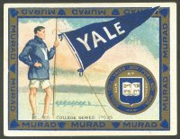 cc usa 1910 murad cigarettes college series 1 25 yale
