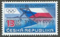 stamp cze 2000 aug. 30th og sydney mi 267 pictogram integrated into national flag