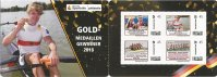 Stamp GER 2018 Deutsch Sporthilfe booklet German gold medal winners 2018