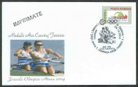 illustrated cover rom 2004 og athens with pm gold medal for g. damian v. susanu in the w2 event