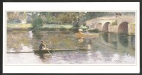 painting gbr the bridge at grez 1883 by sir john lavery 1856 1941
