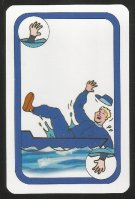 Card game AUT 1997 Oxford Cambridge Boat Race Oxford fan falling into the water