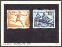 cc ger 1972 wiko muenchen ruft no. 94b stamps ger 1936 torch runner and m2x
