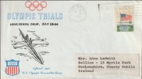Illustrated cover USA 1968 Olympic Trials Long Beach California July 12th 14th