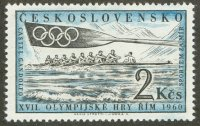 stamp tch 1960 june 15th og rome mi 1208 8 and blade with olympic rings