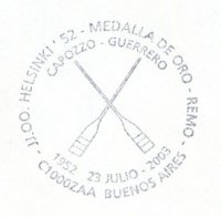 pm arg 2003 july 23rd buenos aires 50th anniversary of gold medal win for capozzo guerrero at og helsinke 1952