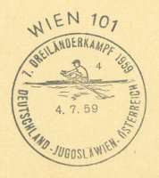 pm aut 1959 july 4th wien 4 7. dreilaenderkampf deutschland jugoslawien oesterreich single sculler