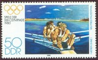 stamp gdr 1980 apr. 22nd og moscow mi 2505 painting w. falkenthal coxless four depicting the famous leipzig 4