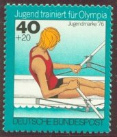 stamp ger 1976 apr. 6th mi 883 sculler