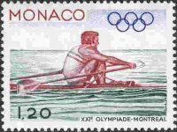 stamp mon 1976 may 3rd og montreal mi 1228 single sculler catching the water