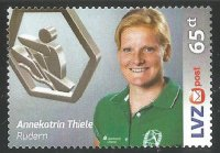 Stamp GER 2016 Aug. 25th LVZ POST Leipzig Annekatrin Thiele
